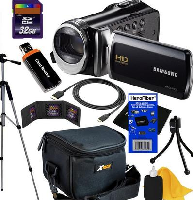 Samsung HMX F90 Black Camcorder with 2.7 LCD Screen