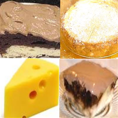 cheesse and cakes, sweet foods