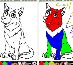coloring pages for kids to paint with color