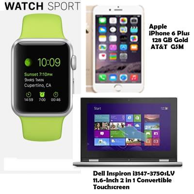 iPhone 6 Plus 128 GB Laptop 1 in 2 digital watch