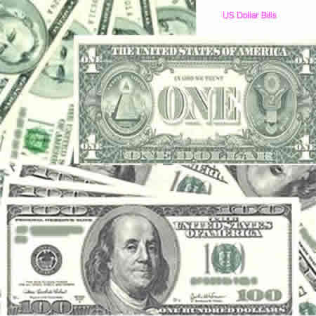 US dollar bills, money makers