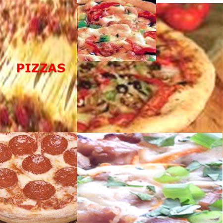 eat pizzas