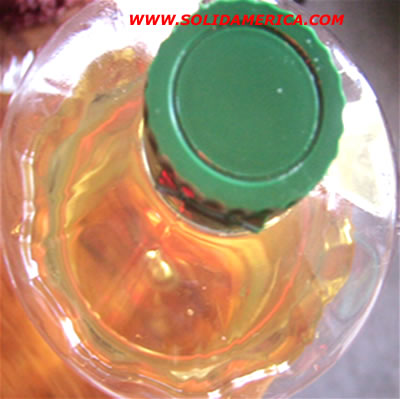 plastic bottle with vegetable oild, fat free