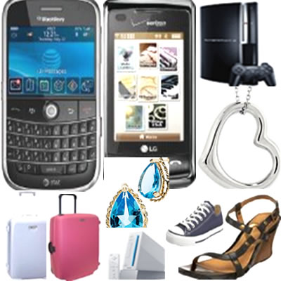 shop cell phones, clothing, jewelery
