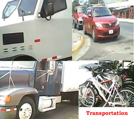 transportation motor vehicles