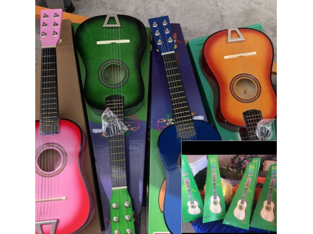 Several Kid Guitars Toy New