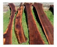 Kiln Dried Wood Live Edge Black Walnut Slab