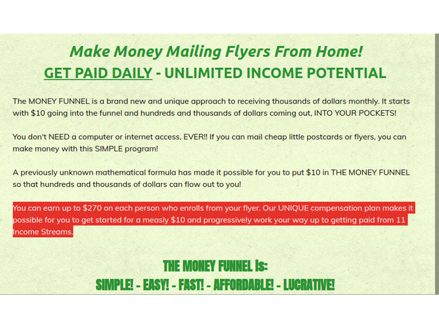 Mailing Business Opportunities Earn Up To $270