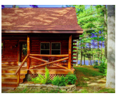 Real Nice Log Log Cabin With Fresh Water Lakefront