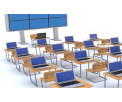 IT Education Training Online With Computer Laptop