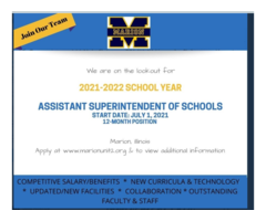 Assistant Superintendent Work For The 2021 to 2022 Year