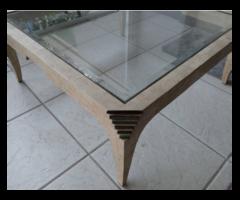 Italian Coffee Table With Glass Top