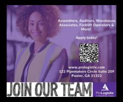 Looking For Assemblers, Warehouse associates Forklift Operators Jobs