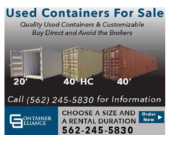 Cheap Used Shipping Containers 10', 20', 40' and 45' HC Cone