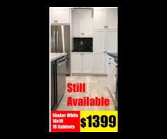 White Kitchen Cabinets Size 10x10