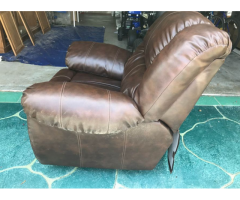 Brown Leather Manual Recliner