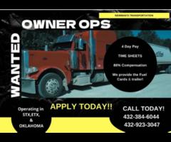 Hiring For Truck Owner Operators